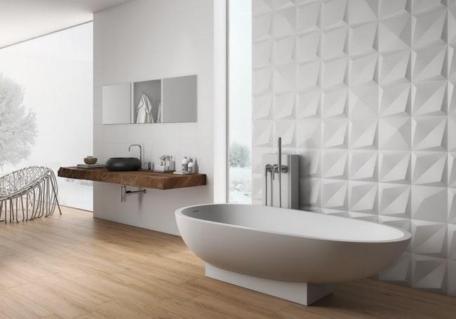 De qué manera crear una pared de contraste en el baño