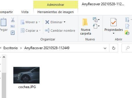 restauración del fichero
