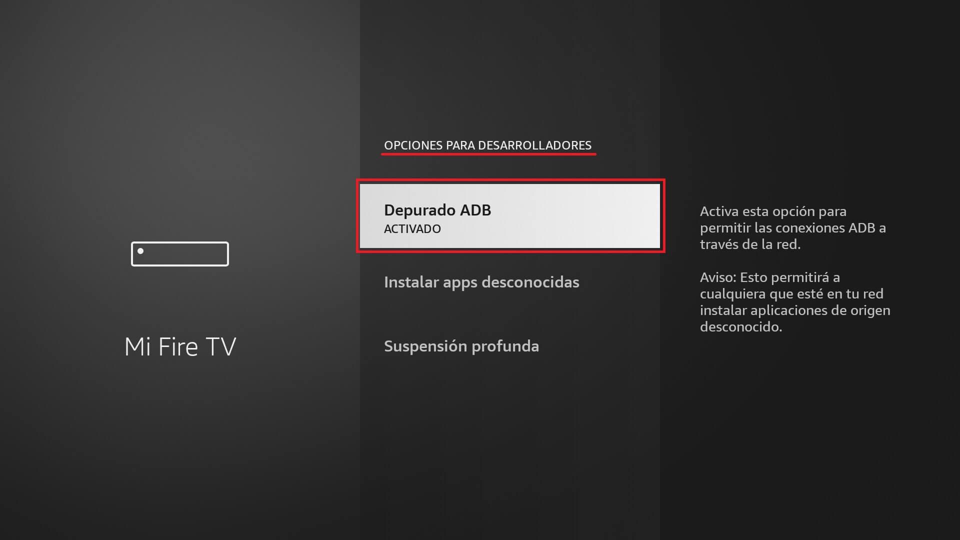 tomar screenshot en fire tv