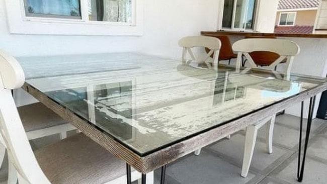 Cristal a la medida para resguardar mesa comedor