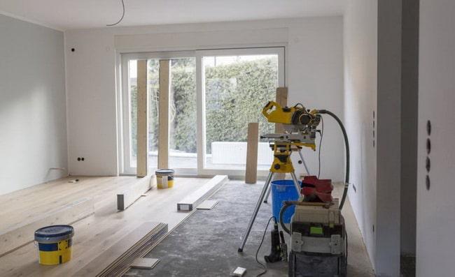 Mudando el suelo de un piso