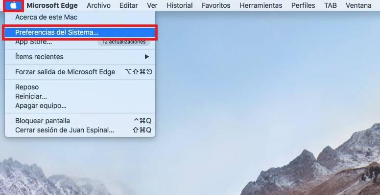 dejar de enseñar notificaciones de Edge en la pantalla de bloqueo de mac o bien macbook