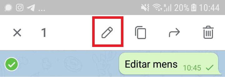 Telegram deja editar mensajes mandados en los chats